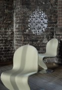 Chaise Verner Panton en tissu Tonus ivoire Kvadrat