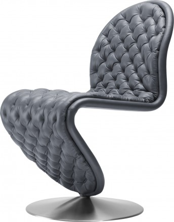 Chaise V. Panton SYSTEM 1-2-3 Deluxe cuir Hero Masérati Chesterfield