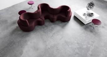 Verpan canapé Cloverleaf modulable en tissu 3 places