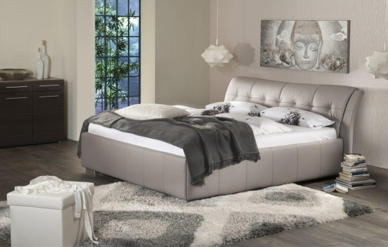 lit double cuir sweetdreams 160 cm queen size. Black Bedroom Furniture Sets. Home Design Ideas