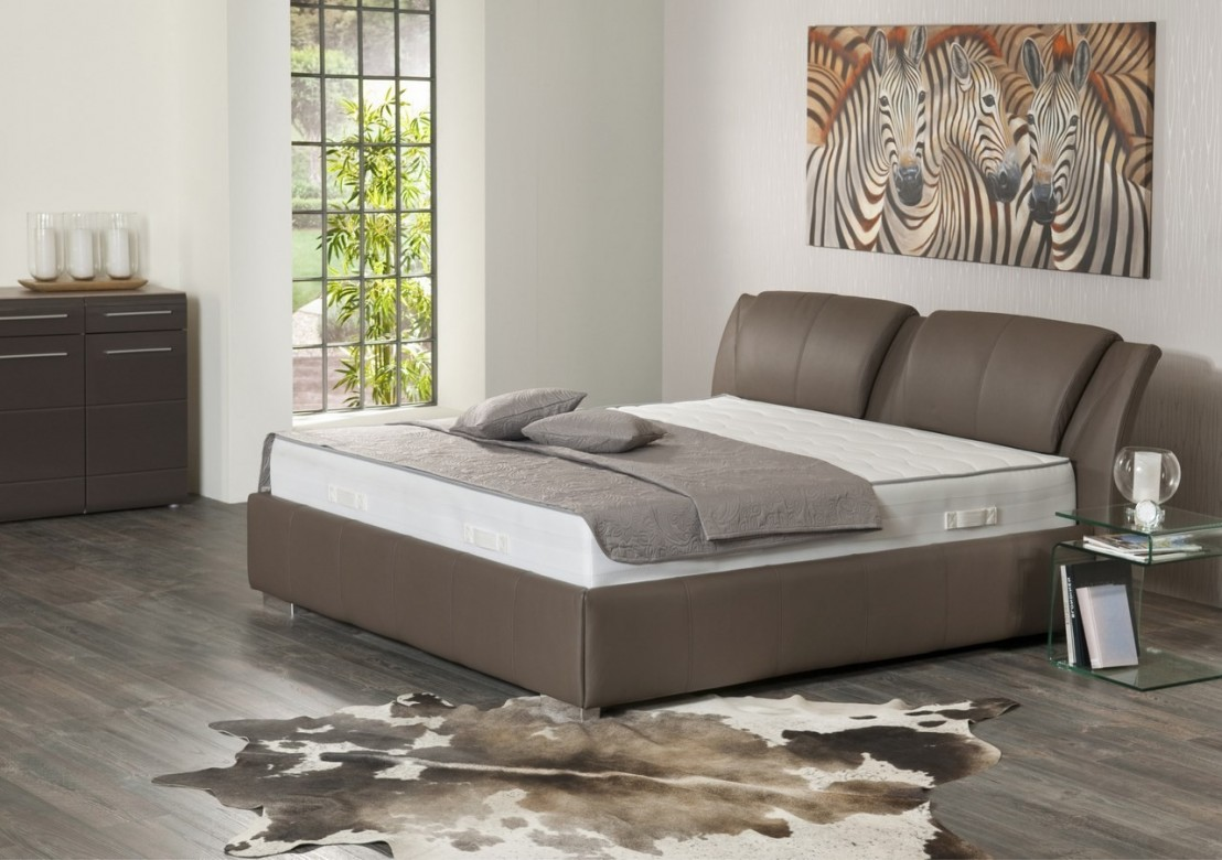 Lit en cuir king size avectoi 180 cm for Lit king size but