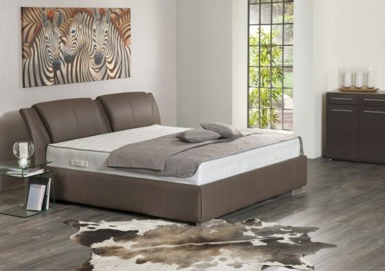 Très grand lit en cuir Super King Size AVECTOI 200 cm