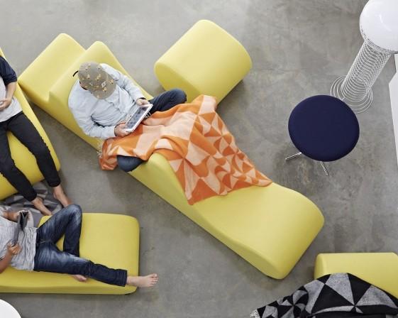 Grand module lounge WELLE 3 en tissu Urban Plus Camira ou Kvadrat