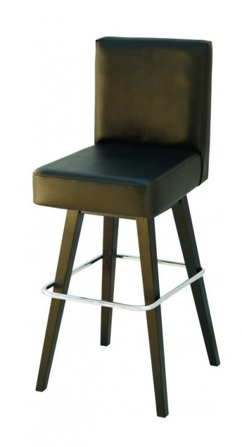 Tabouret de bar CasinoRoyal en cuir, lot de 2