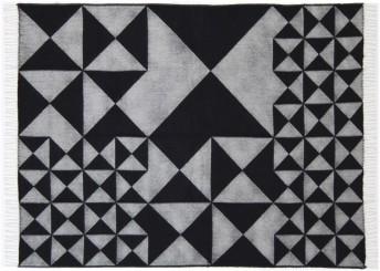 Plaid Verpan noir MIRROR en pure laine Mérinos