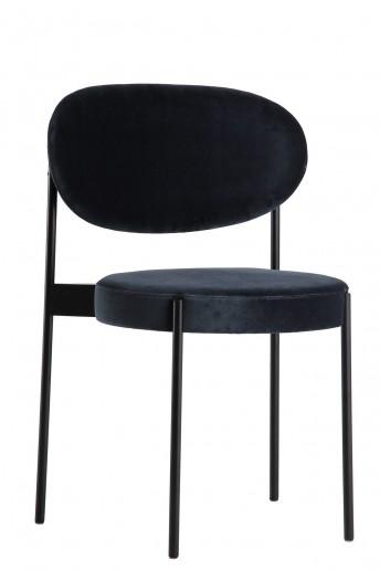 Verpan chaise SERIE 430 en tissus Kvadrat Raf SIMONS Harald 2, design Verner PANTON