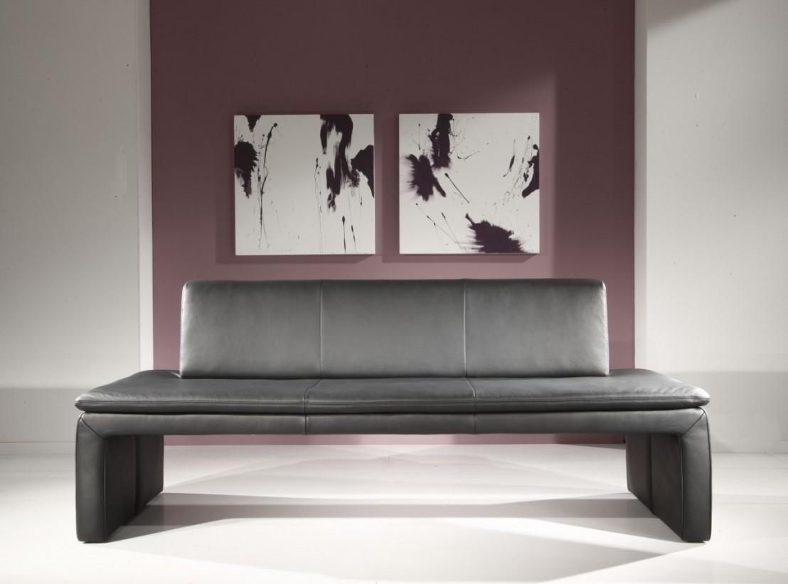 loftside banquette en cuir 120 cm. Black Bedroom Furniture Sets. Home Design Ideas