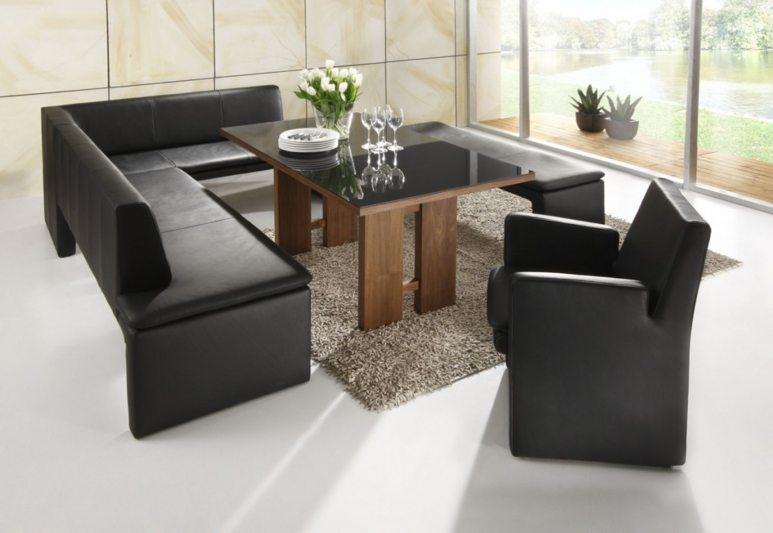 banquette d 39 angle loftside cuir ou tissu 180 x 250 cm. Black Bedroom Furniture Sets. Home Design Ideas
