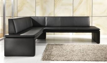 Banquette d'angle LoftSide cuir ou tissu 180 x 250 cm