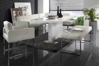 Banquette d'angle DiamondDining cuir ou tissu, 225 x 209cm