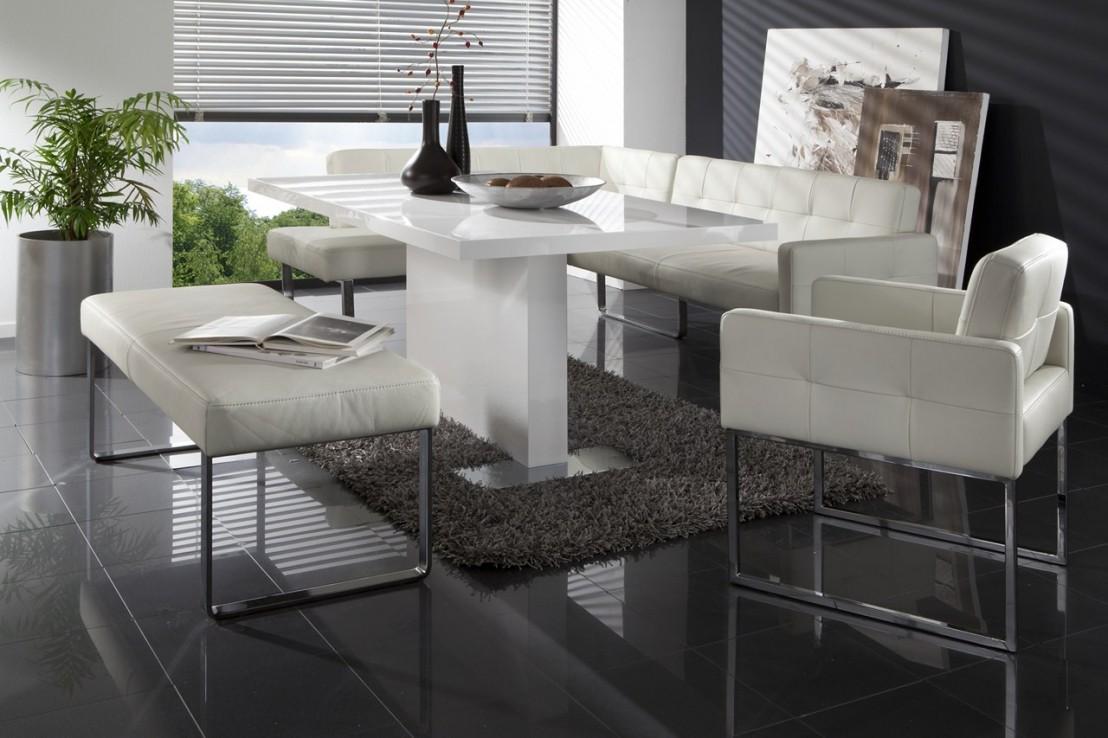 banc design en cuir diamonddining 220 cm. Black Bedroom Furniture Sets. Home Design Ideas