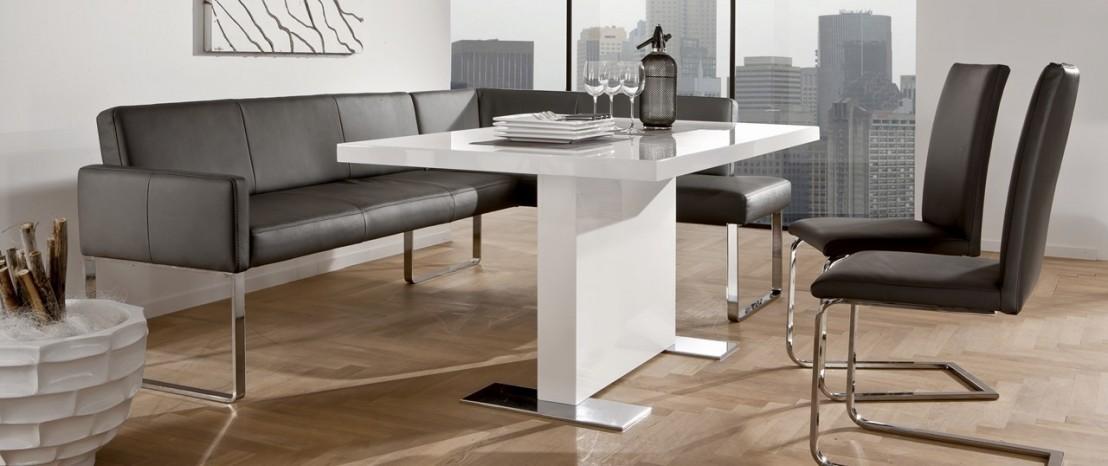 Petite banquette d 39 angle puredining design en cuir 130 x 169 cm - Banquette cuir design ...