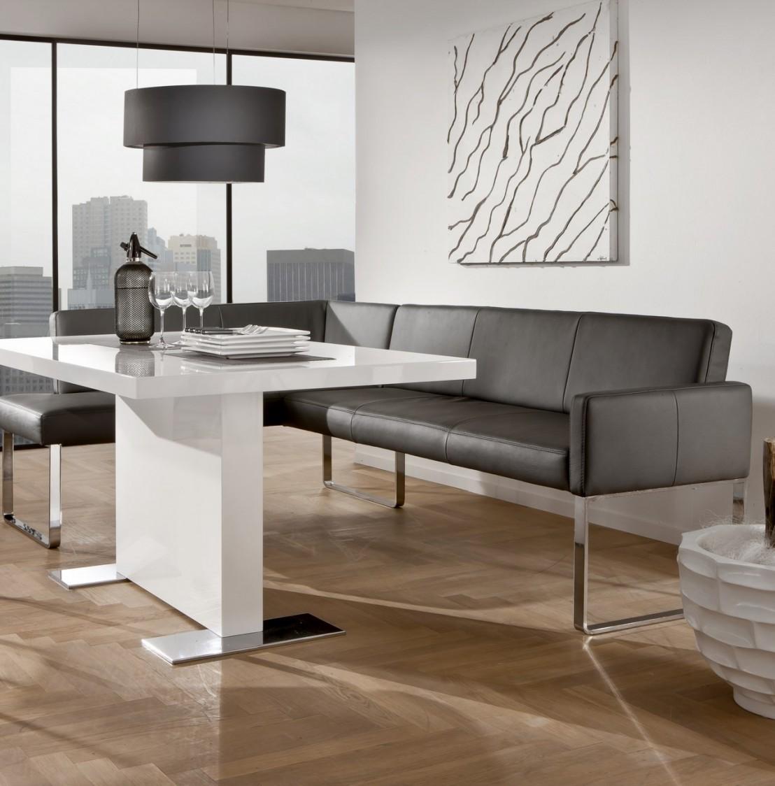 petite banquette d 39 angle puredining design en cuir 130 x 169 cm. Black Bedroom Furniture Sets. Home Design Ideas