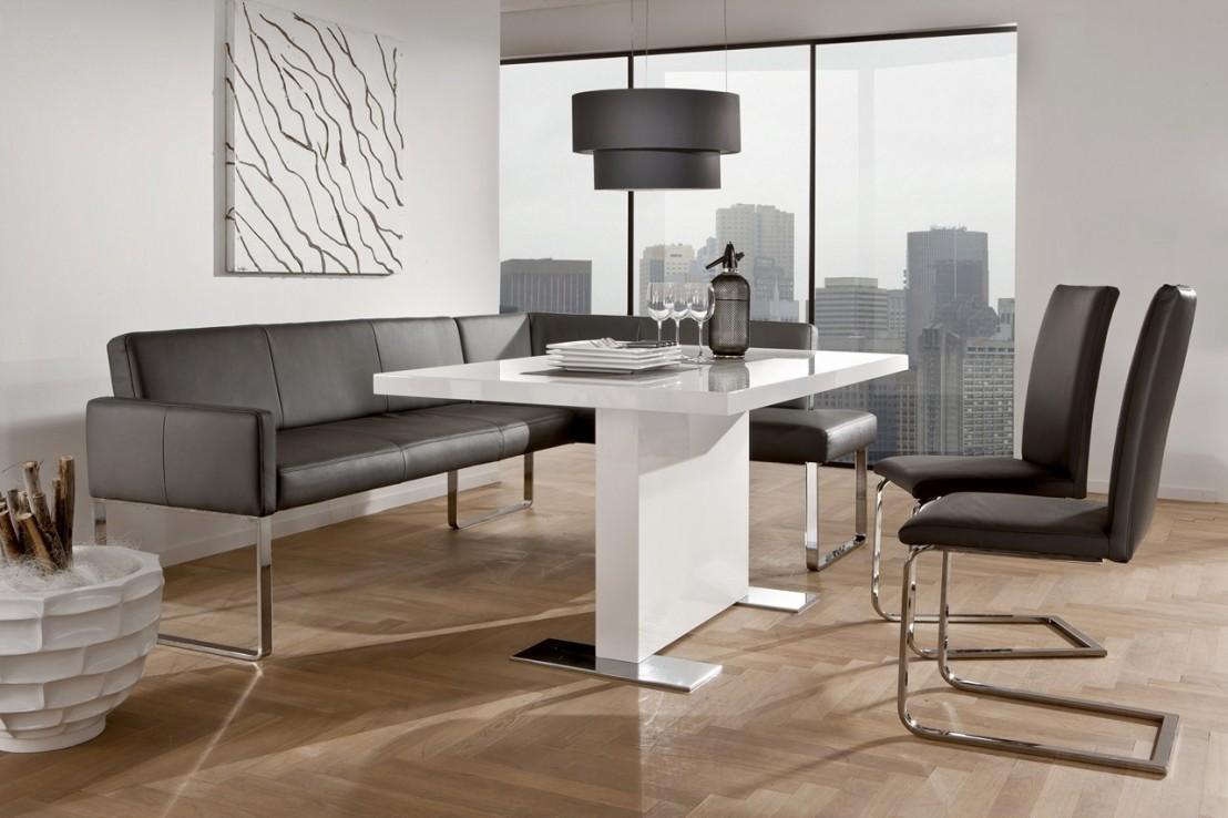 petite banquette d 39 angle puredining design en cuir 130 x. Black Bedroom Furniture Sets. Home Design Ideas