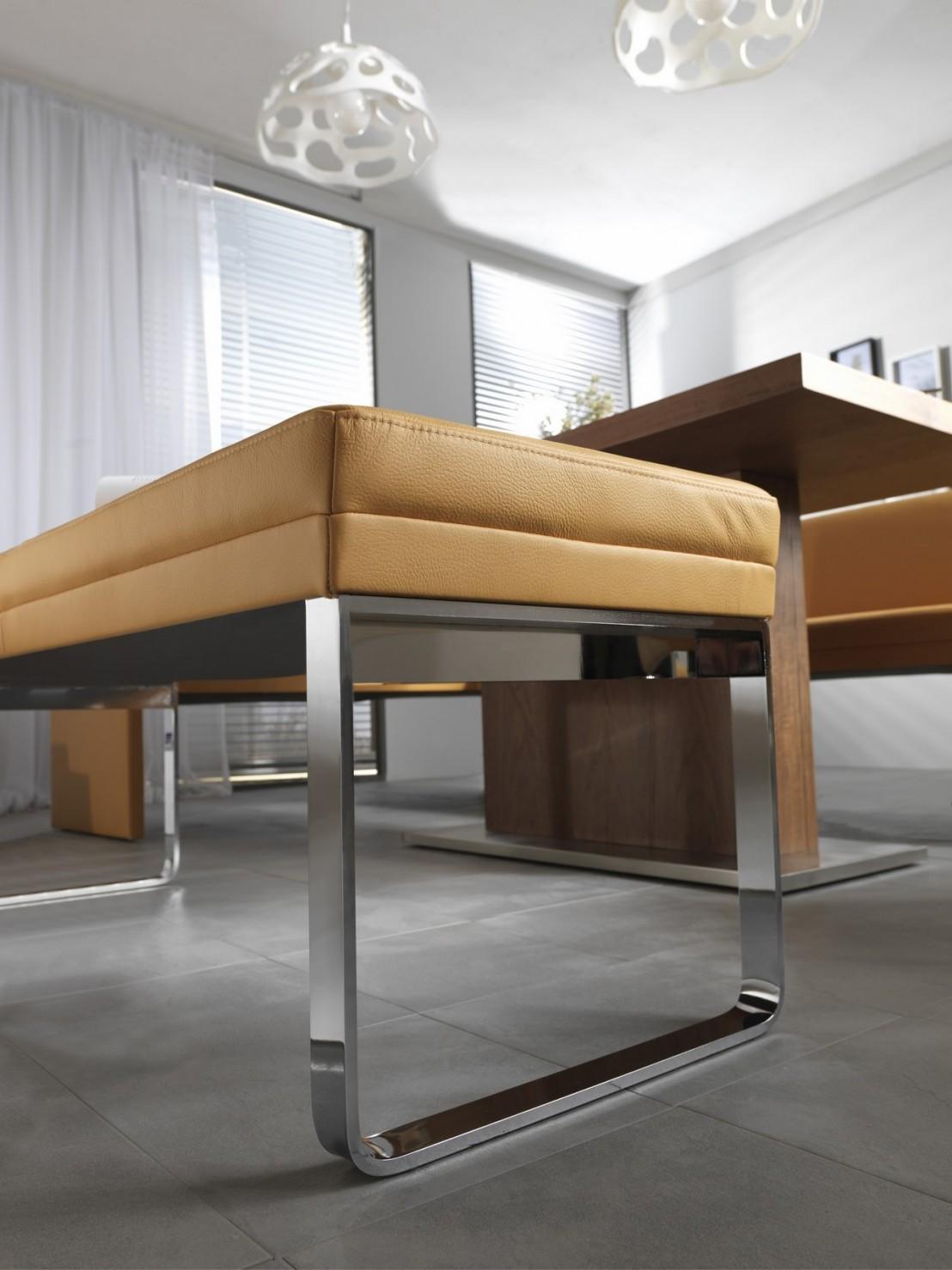 banc contemporain dexter 155 cm. Black Bedroom Furniture Sets. Home Design Ideas