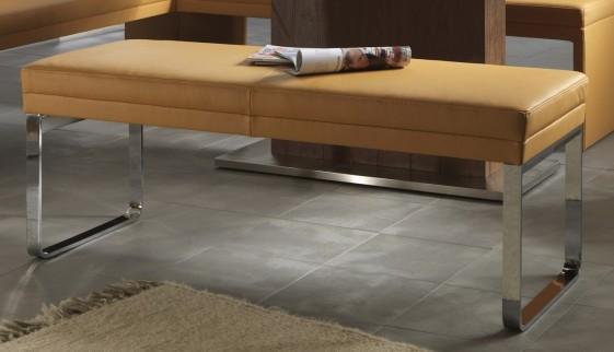 dexter banc design 205 cm cuir et chrome. Black Bedroom Furniture Sets. Home Design Ideas