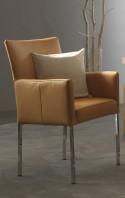 Fauteuil design DEXTER cuir ou tissu