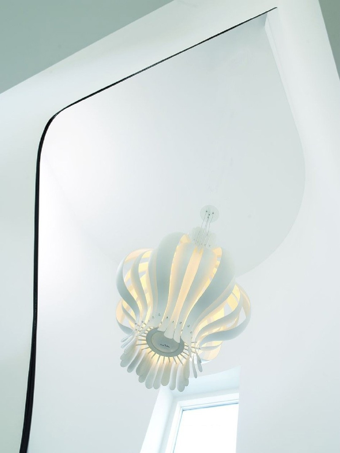 Lampe onion verpan grande blanche for Lampe suspension blanche