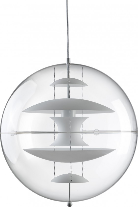 Suspension sphère VP Globe Verpan opale 40 cm diamètre
