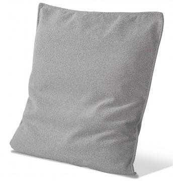 Coussin plat tissu uni ou motifs carré 60 x 60 cm finition passepoil cuir