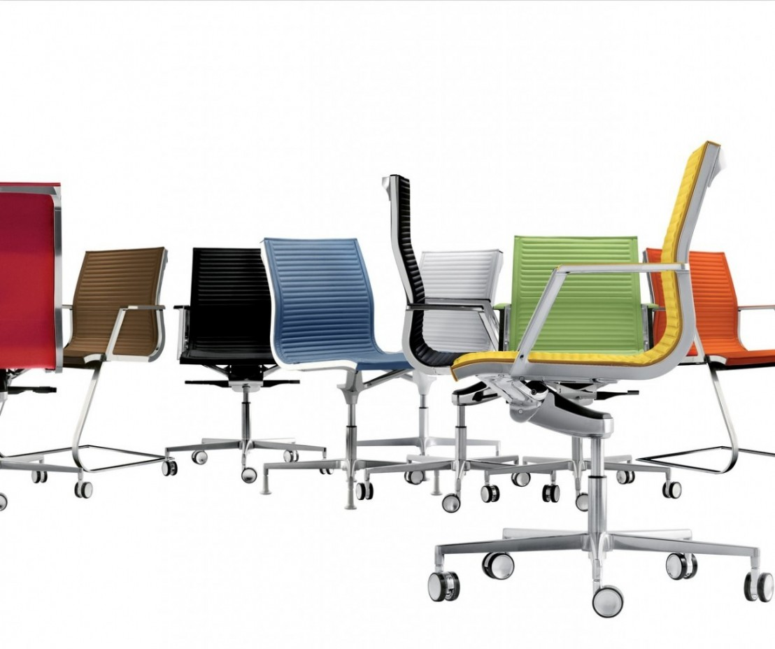 fauteuil bureau nulite pied fixe pivotant en cuir 224 accoudoirs
