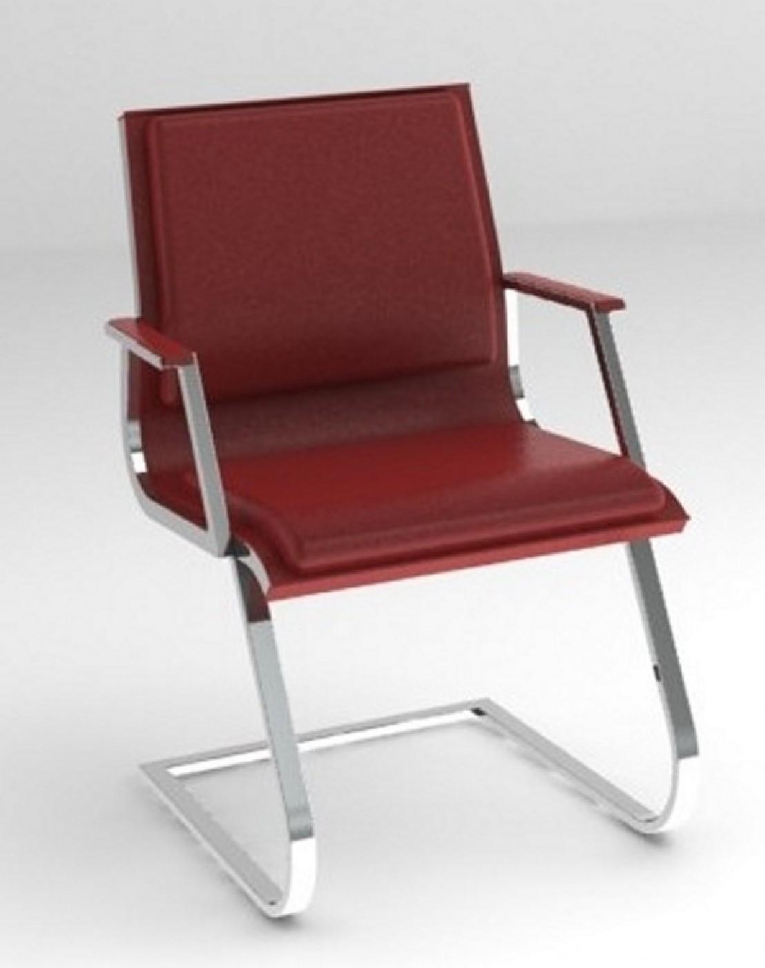 Fauteuil visiteurs nulite rembour accoudoirs pied luge - Pied fauteuil de bureau ...