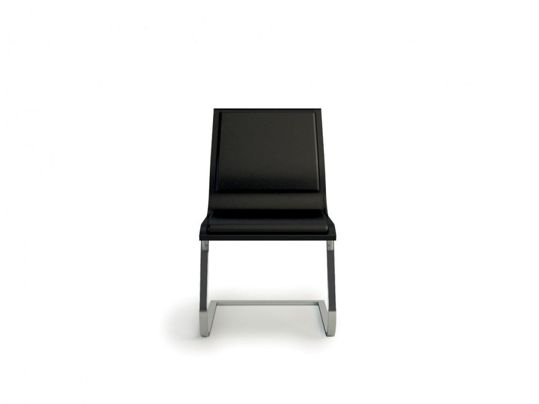 chaise visiteurs cuir pleine fleur nulite pied luge rembourr e. Black Bedroom Furniture Sets. Home Design Ideas