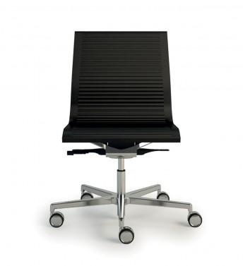 NULITE chaise cuir striée sur roulettes de bureau design