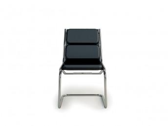 Chaise visiteur LIGHT rembourrée sans accoudoir en cuir