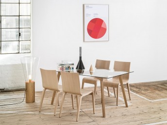 Chaises en bois contemporaine SIMPLE, par 4
