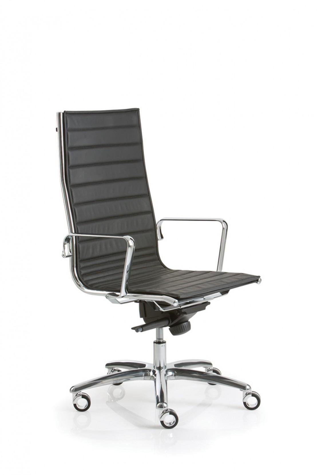 fauteuil luxy light direction cuir dossier haut livraison gratuite. Black Bedroom Furniture Sets. Home Design Ideas