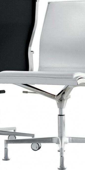 Chaise NULITE de bureau éxecutive cuir pleine fleur pied fixe rembourée