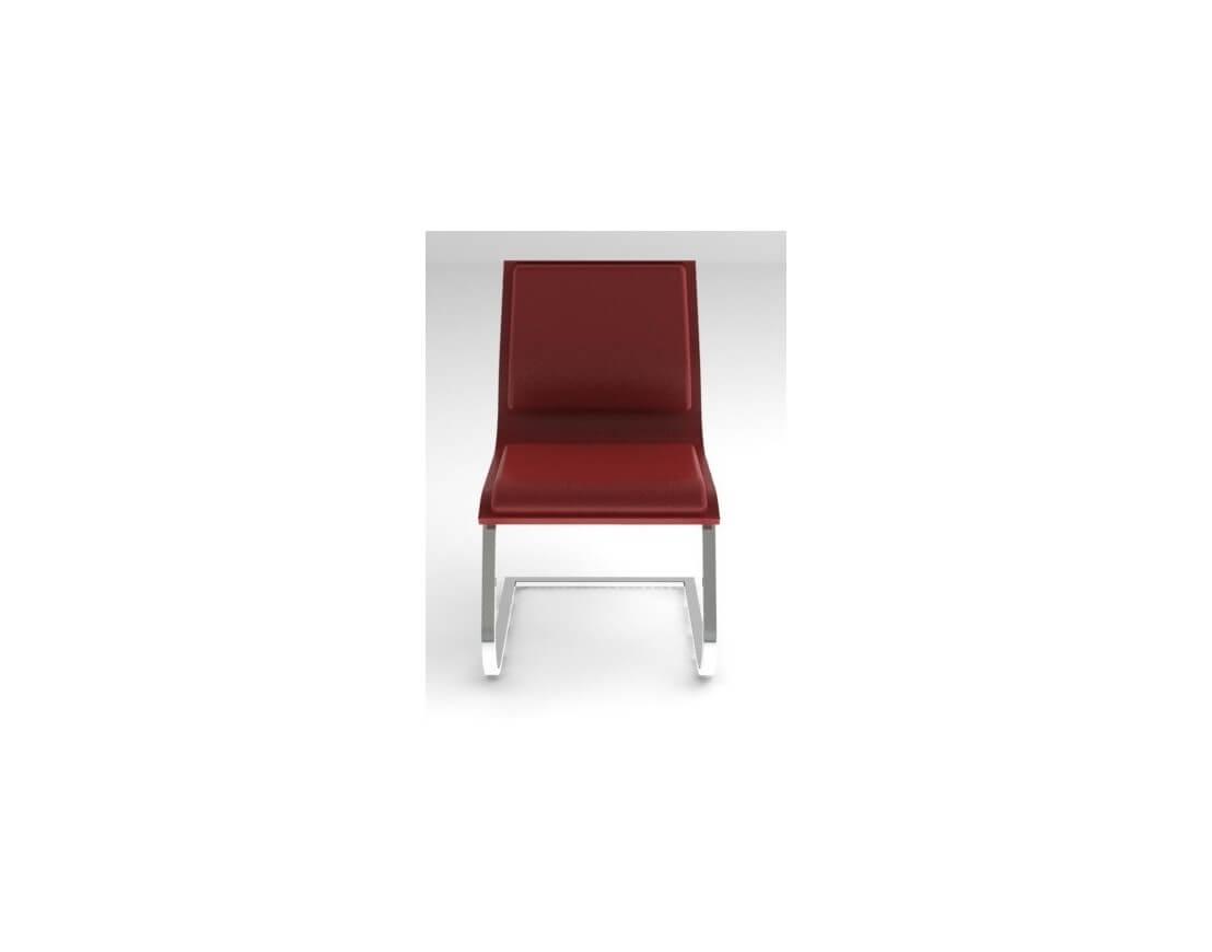 Chaise visiteurs cuir pleine fleur nulite pied luge rembourr e - Chaises visiteurs design ...