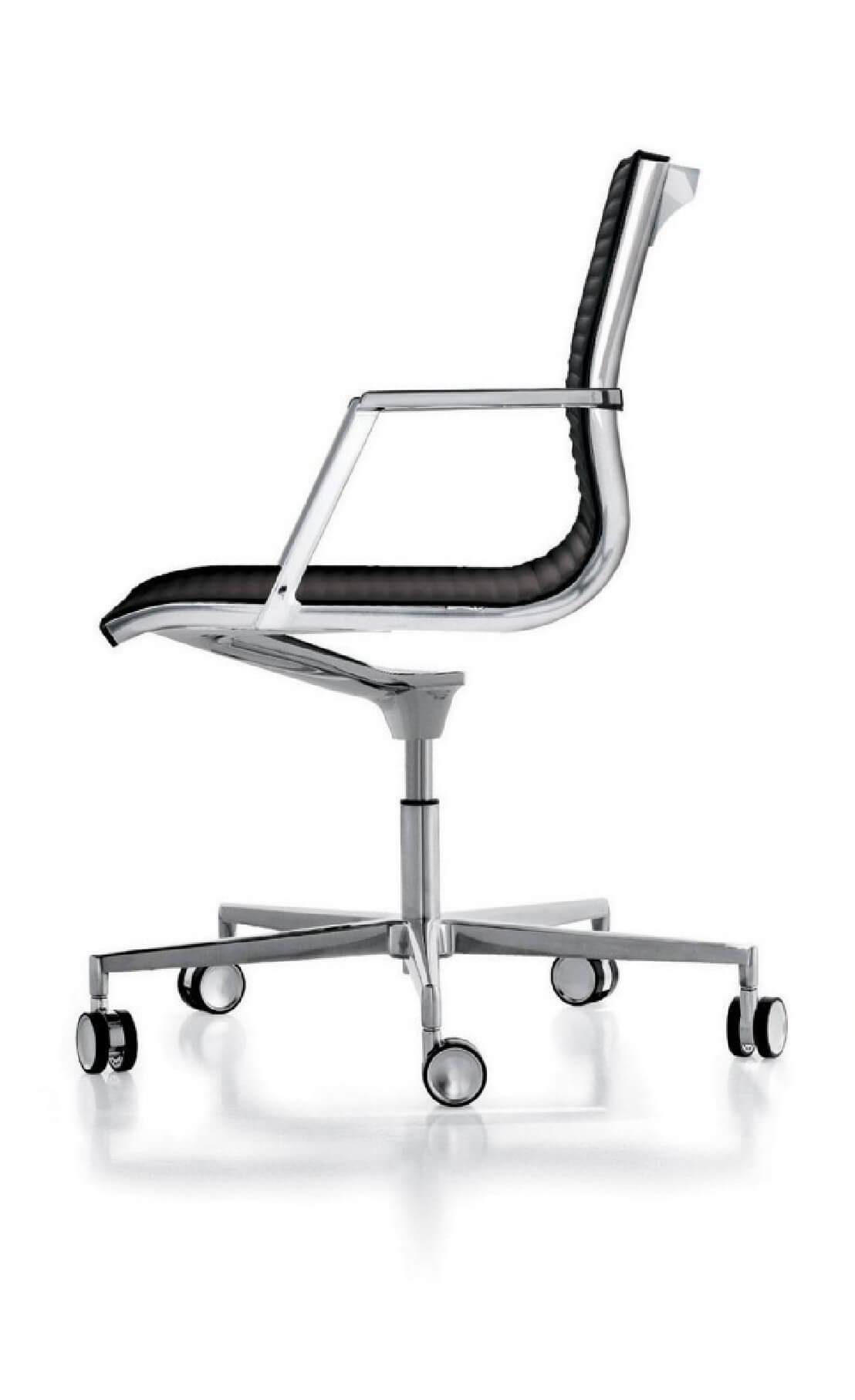 fauteuil cuir pleine fleur dossier bas nulite de bureau livraison gratuite. Black Bedroom Furniture Sets. Home Design Ideas