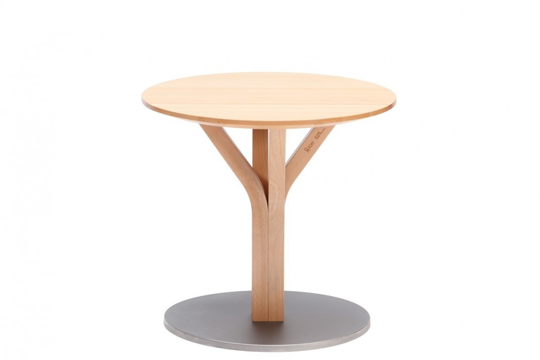 petite table basse ronde en h tre bloom central 275 ton seanroyale. Black Bedroom Furniture Sets. Home Design Ideas