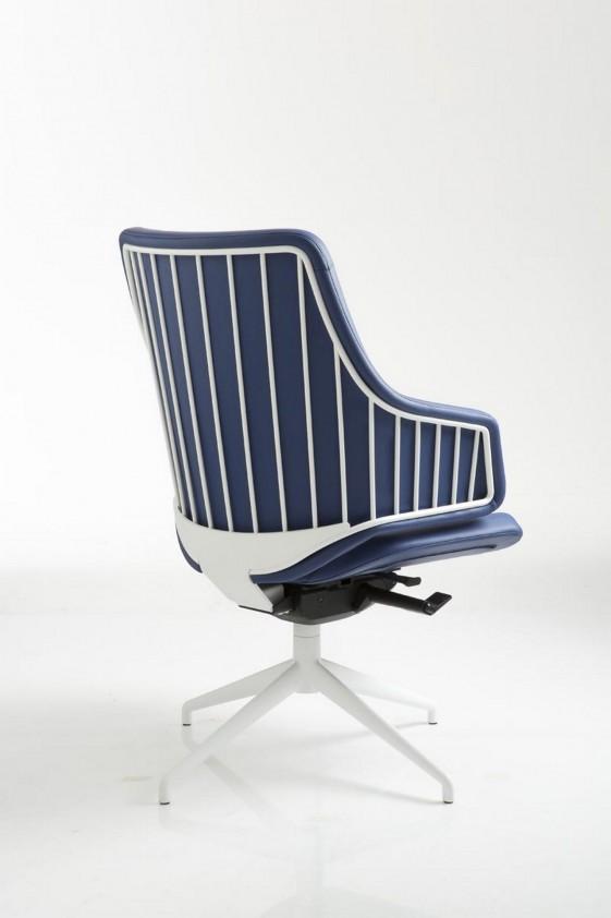 Fauteuil de bureau cuir italia it10 dossier bas pivotant - Pied fauteuil de bureau ...