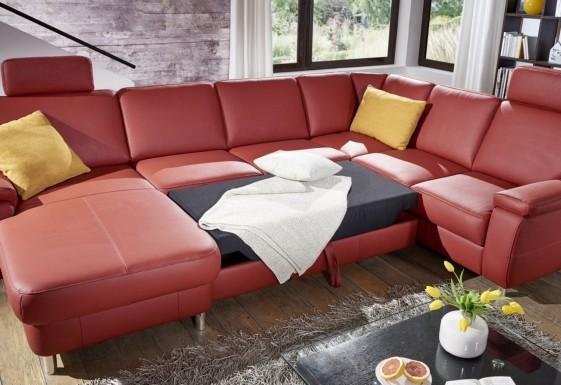 grand canap d angle convertible 6 places en u marwin c coffres. Black Bedroom Furniture Sets. Home Design Ideas