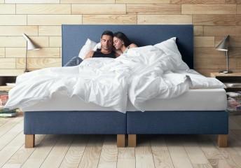 Lit complet 140 cm SIMPLY tête de lit + sommier + matelas
