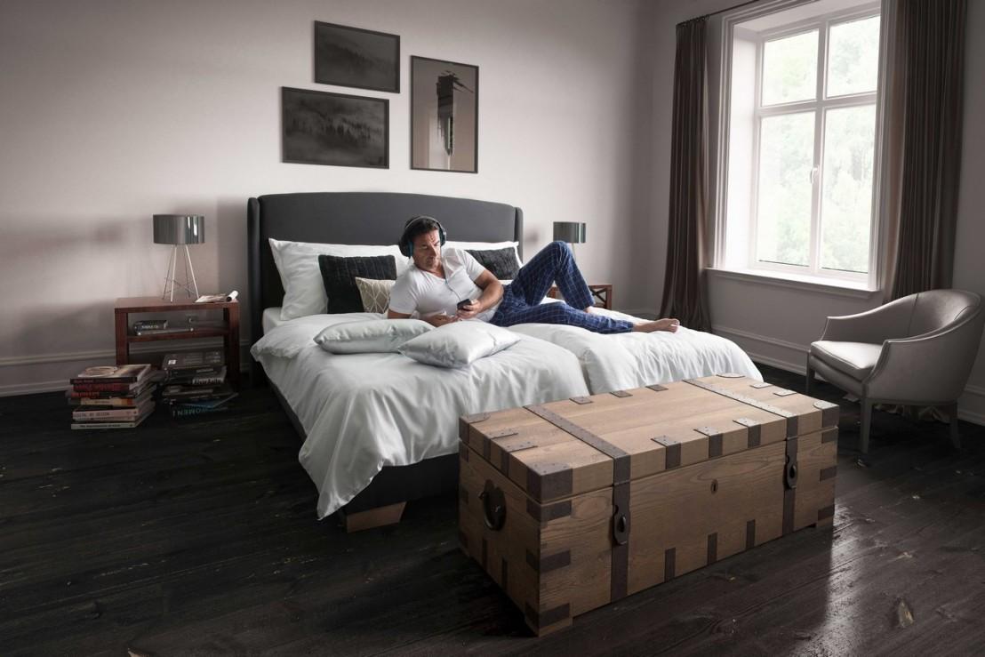 ensemble matelals sommier t te de lit tissu sidy livraison gratuite. Black Bedroom Furniture Sets. Home Design Ideas