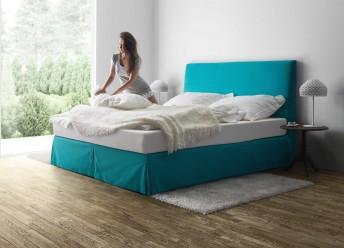 Lit complet TREND 160 cm, tête de lit, sommiers et matelas bio