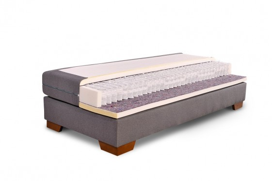 ensemble sommier ergo box matelas ressorts ensach s spa 140x200 cm. Black Bedroom Furniture Sets. Home Design Ideas
