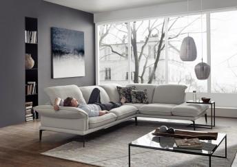 Canapé 4 places d'angle CONTEMPLATION.TM tissu ou cuir