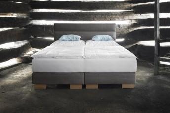 Lit complet 100% BIO LINE tête de lit moderne + sommier + matelas BIO.SPRING.ROYAL VITALWOOD 160*200cm