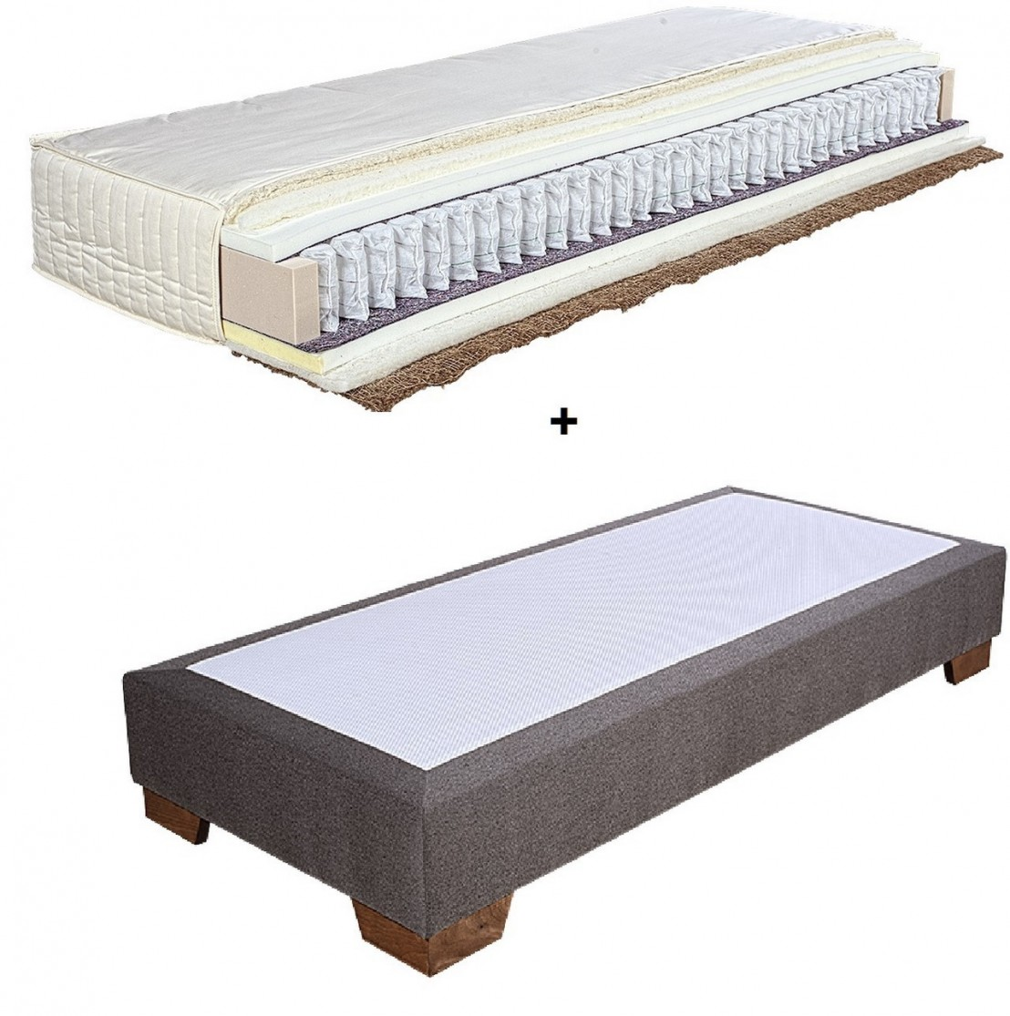 matelas 160 cm en fibres naturelles sommiers clemens. Black Bedroom Furniture Sets. Home Design Ideas