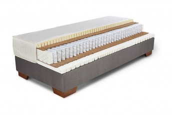 Matelas en latex 100% naturel et ressorts ensachés multi-zones NATURAL.CONFORT et sommier ERGO.BOX, 160x200 cm
