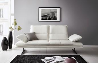 ALWIN.C canapé 2,5 places profondeur réglable, appuie-tête multi-positions, cuir ou tissu
