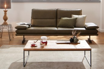 Canapé ALWIN.C 3 places profondeur réglable design contemporain cuir ou tissu