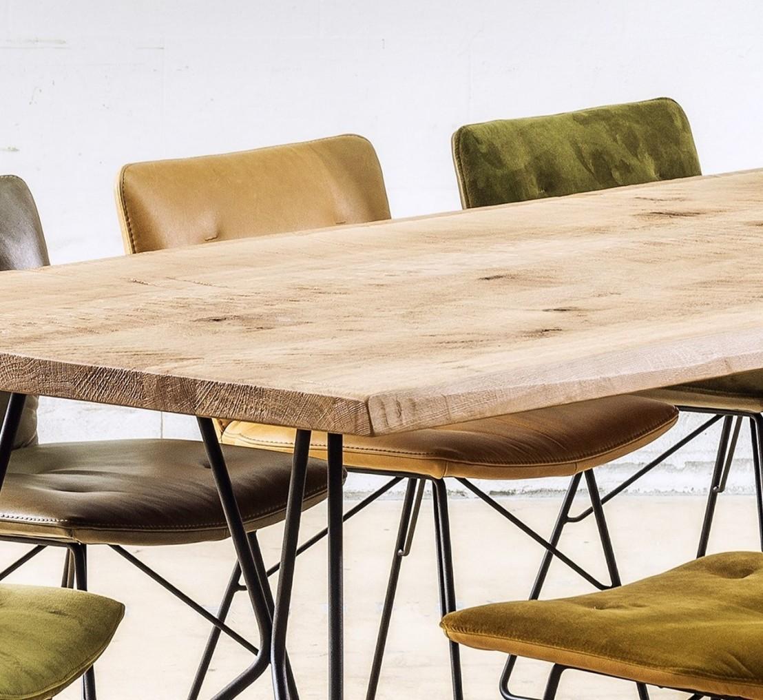 tr s grande table bois 100 x 250 cm en ch ne monsieur t. Black Bedroom Furniture Sets. Home Design Ideas