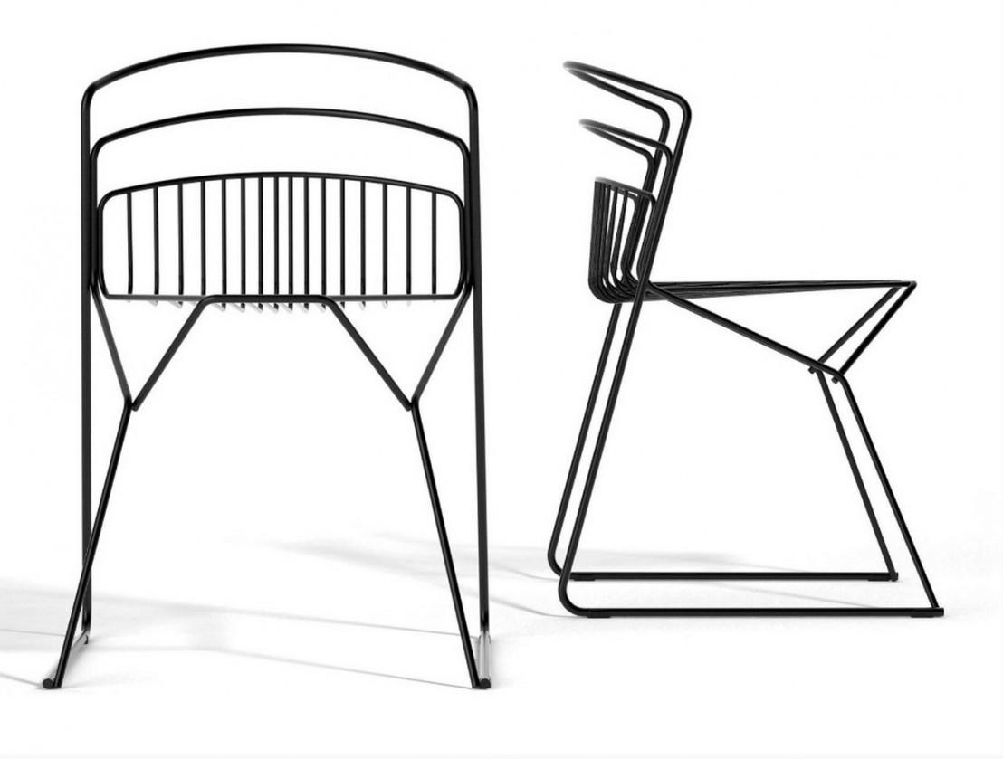 Chaises design m tal par 6 ribelle luxy livraison gratuite - Chaises exterieur design ...