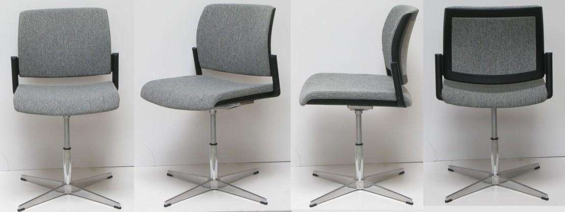chaise de bureau ou de r union design pivotante cuir ou tissu. Black Bedroom Furniture Sets. Home Design Ideas